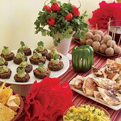 Cinco de Mayo   http://www.rachaelraymag.com/easy-party-ideas/Great-Get-Togethers/holiday-party-menus/cinco-de-mayo