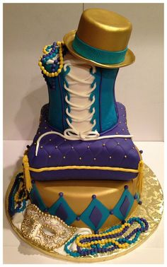 Mardi Gras - by Skmaestas @ CakesDecor.com - cake decorating website