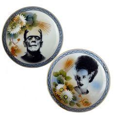A Funny Gift | Mr. & Mrs. Frankenstein Plates! or a fun DIY!!!