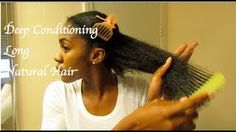 How To Deep Condition Natural Hair (Video)  www.africanamericanhairstylevideos.com