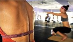 yoga exercise ,  hot yoga