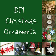 DIY Christmas ornaments. Pin now-- make later!