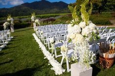 All white stunner! St. Francis winery and vineyards, Sonoma, California. Floral Design: Fleurs de France. www.fleursfrance.com Wedding Planner: www.a-dreamwedding.com