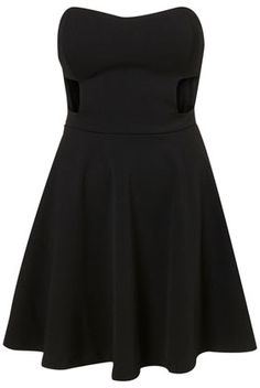 Bandeau Cutout Skater Dress by Dress Up Topshop** - Dresses  - Clothing  - Topshop