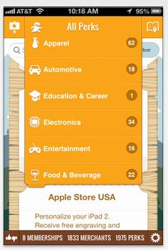 Larky organizes all your membership benefits for you right on your iPhone. Smart!