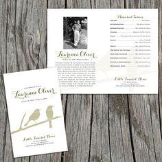 Branches Modern Funeral or Memorial Program  by FoxDigitalDesign, $30.00