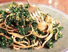 sesame noodles with kale, houses, kale recipes, veggi recip, food, chilis, soba noodles, sesam noodl, eat
