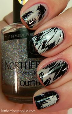 Feathers! #nails #manicure