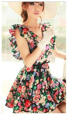 floral dress. Floral Dress beautiful #womendress #jamesfaith712 #FloralDress #Floral #Dress #newclothes www.2dayslook.com