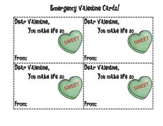 Emergency Valentine's Day cards