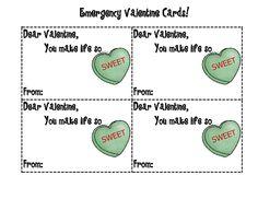 Emergency Valentine's Day cards