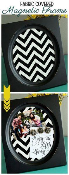 Fabric Covered Magnetic Frame { lilluna.com }