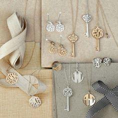 Monogrammed jewelry