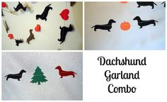 Dachshund Holiday Garlands Combo Pack   Must have!
