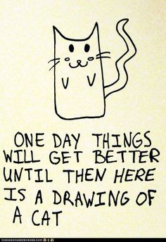 draw, kitty cats, kitten, silly animals, card, thought, quot, print, friend