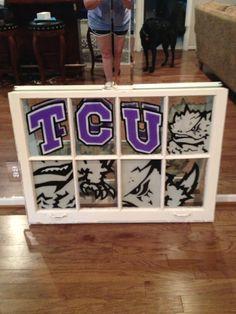 TCU window art