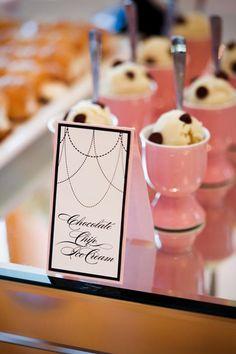 mini bites, coco chanel, chocolate chips, egg cups, bridal shower ideas, cream, dessert, parti, bridal showers