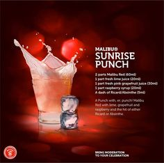Sunrise punch - lovely at any time of the day or night!