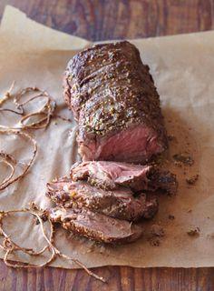 Roasted Beef Tenderloin with Mushroom Ragout