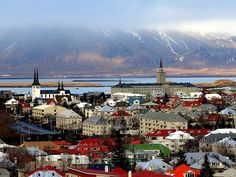 Reykjavik, Iceland-- remember, it's not really icy! Lulz.