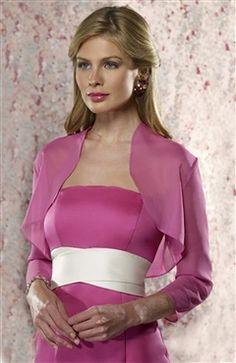 3/4-length Sleeve Chiffon #Bolero & #Shawls  Style Code: 06700 $31