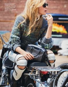 visual optimism; fashion editorials, shows, campaigns & more!: la fureur du style: keke lindgard by ben watts for elle france 20th september...