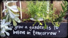 """To grow a garden is"