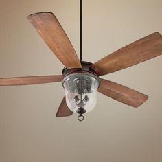 "60"" Craftmade Fredericksburg Oiled Bronze Gilded Ceiling Fan -"