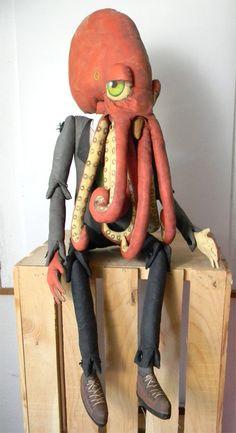 cartbeforethehorse, ooak octopus doll
