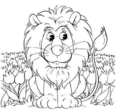 Free Lion coloring page for #children!  #educational #resources