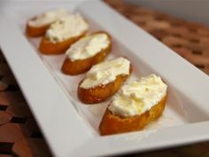 Three Cheese Crostini with Honey from CookingChannelTV.com