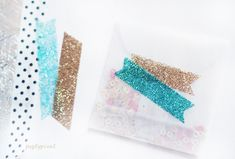 Glitter tape tutorial.