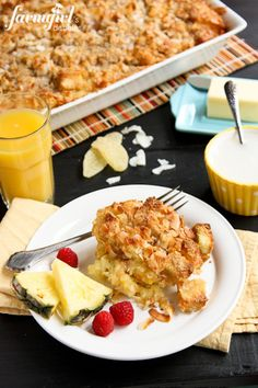 Overnight Coconut-Ginger Baked French Toast - www.afarmgirlsdabbles.com