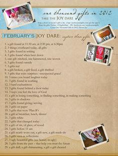 February Joy Dare