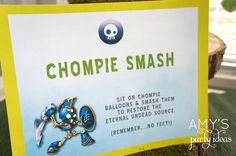 skylanders birthday party game signs undead element
