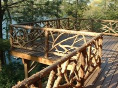 "rustic railings | Hand Made Rustic Cedar ""Cracked Ice"" Fencing / Railing by Rustic ..."