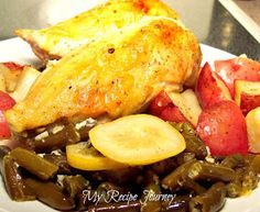 My Recipe Journey: Garlic and Lemon Chicken with Green Beans and Potatoes!