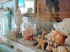 sweet summer mantel
