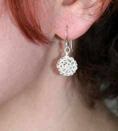 Tiny Dot #Crochet Wire Earrings by Radka Design on Scoutmob Shoppe