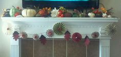 Fall Thanksgiving mantle