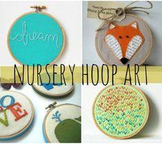 handmade hoop art