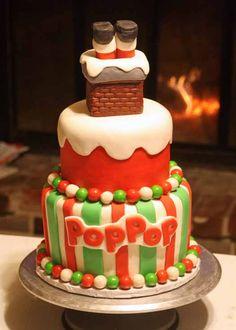 Santa Stuck in the Chimney Cake