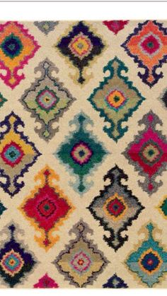 Mid Century Multi Color Rug