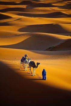 Sahara desert, Morocco  Sailing across the sea by gilad