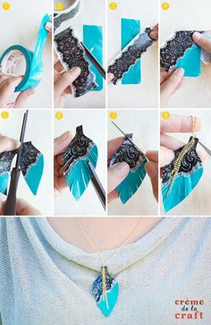 Have always loved duck tape!!! And I ll just need the right colors for a necklace like that now!!! And a chain...!
