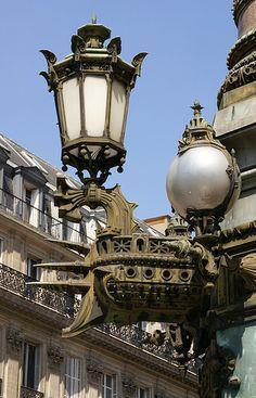 Paris, Place de l'Opéra, Laterne