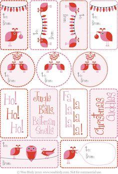 gift tags #free #printable #christmas #holidays #diy #crafts