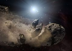 Asteroids Pound A Tiny Star - SpaceRef