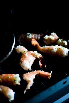 Simple Garlic Barbequed Wild Prawns