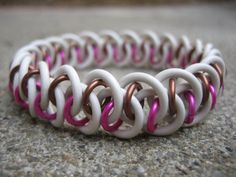Neapolitan Stretchy Chainmaille Shenanigans Bracelet